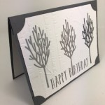 How to make a Ombree card and also doing the Inlaid technique. All in one. Framelits is In The Woods. All product by Stampin