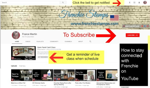 How to subscribe to Frenchie You Tube Channel and get notification.