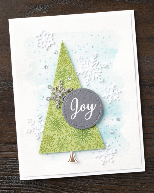 Snowflake Showcase. Happiness Surround, Snow is Glistening, Snowflake Thinlits, Snowflake Trinkets and Velvet paper all available while supplies last or end of November 2018, whichever  come first. All product by Stampin'Up! and can be purchase at frenchiestamps.com