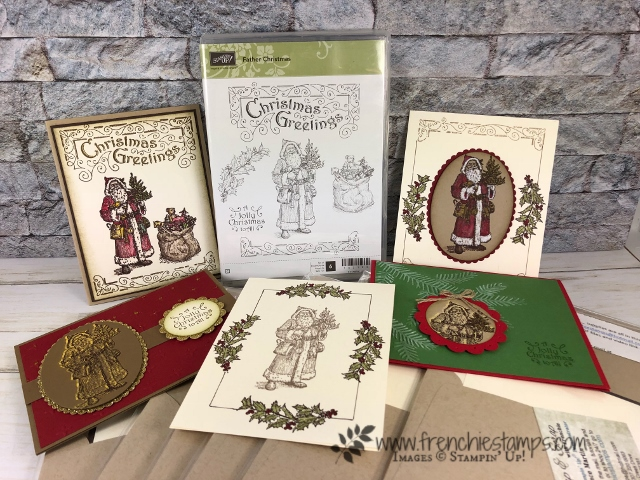 Father Christmas card Kit. Enter to win this 30 cards kits at frenchiestamps.com