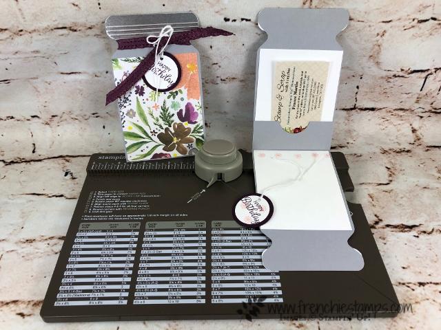 Slim Jar Card with Envelope Punch Board