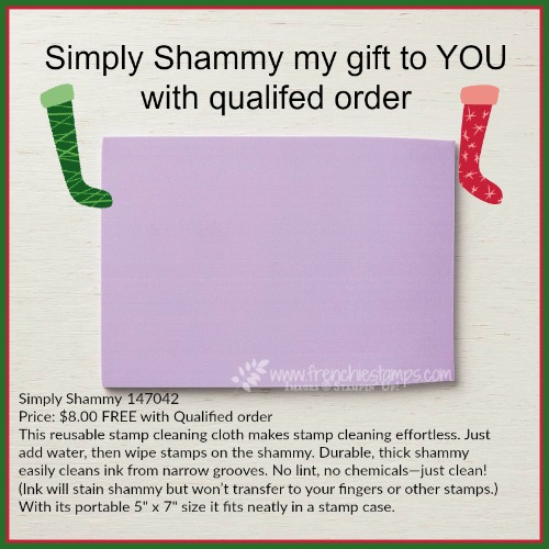 Qualified for a FREE shammy at frenchiestamps.com