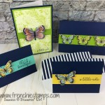simple cards using the Butterfly Gala bundle with the Botanical Butterfly designer paper. Happiness Blooms cards. All products are from Stampin
