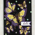 How to use the negative of the Butterfly Beauty and have a 3 color butterfly. All product from Stampin