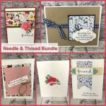 Showcase cards using the Needle & Thread and Needlepoint Elements Framelits. Plus the matching designer paper Needlepoint Nook. All product from Stampin