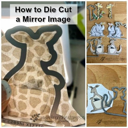 How to die cut a mirror image out the Animal Expedition Designer Paper with the Animal Friends Thinlits. All products by Stampin'Up! available at frenchiestamps.com