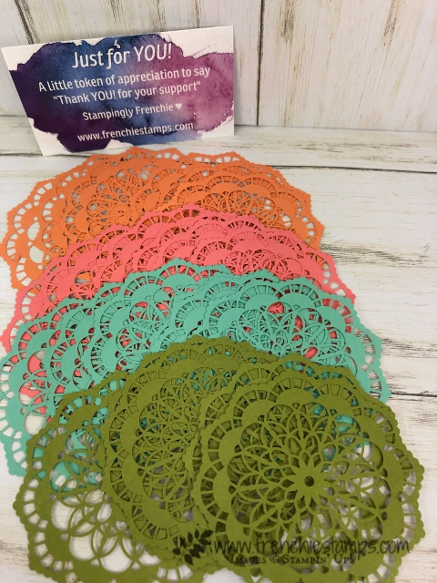 Color Doilies free with qualified order at frenchiestamps.com from April 23 to 30th , 2019.