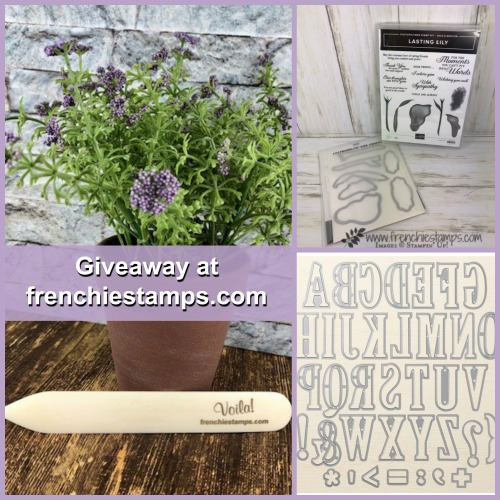 Large Alphabet Die, Lasting Lily Bundle, Frenchiestamps bone folder giveaway at frenchiestamps.com