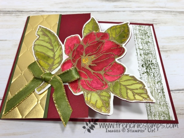 Christmas in July card class on You Tube with Frenchie and Holly.  Stamp set Good Morning Magnolia, Woven Heirlooms. All product by Stampin'Up! available at frenchiestamps.com