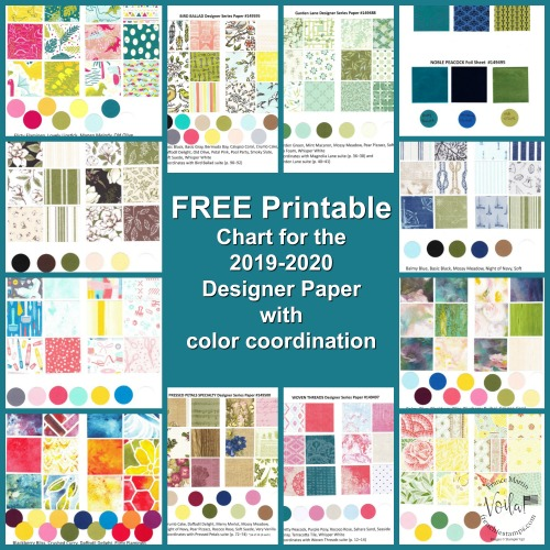 Free Download of Stampin'Up! Design Paper Chart
