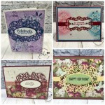 Detailed Band Dies. Variation of cards and combination. All supplies by stampin