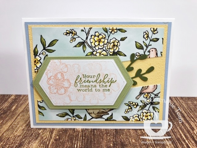 Swaps with Frenchie' Team. Stamp set Free As A Bird. All supplies by Stampin'Up! available at frenchiestamps.com