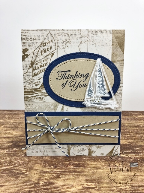 Using the Sailing Home stamp set. How to stamp on vellum and add color. All supplies by Stampin'Up! available at frenciestamps.com  #stampinup #stamping #frenchiestamps #cardmaking #papercrafts #handmadecards #sailawaysuite