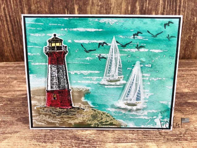 Ocean Scenery With Sailing Home and Birch Stamp Set