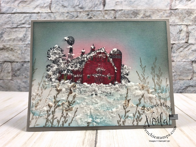 Winter Scene with the Heartland and Country Road stamp set