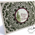 Christmas card with the Bird Ballad Laser cut. Stamp set from the Most Wonderful Time Product Meldley and the Itty Bitty Christmas. All product by Stampin