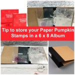 Tip to store your paper pumpkin stamp set in a album.