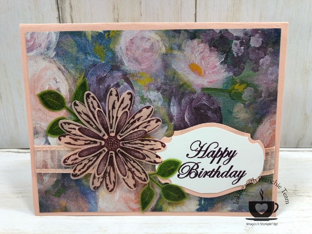 Showcase of the Perennial Essence Vellum paper with Frenchies' Team. Stamp set Daisy Lane, Tropical Shic, Magical Mermaid. #stampinup #stamping #frenchiestamps #cardmaking #papercrafts #handmadecards