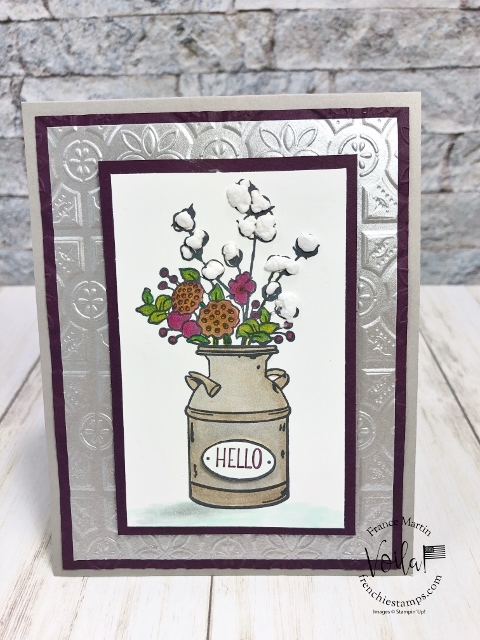 Puff Paint for the Cotton Plant in Country Home.
