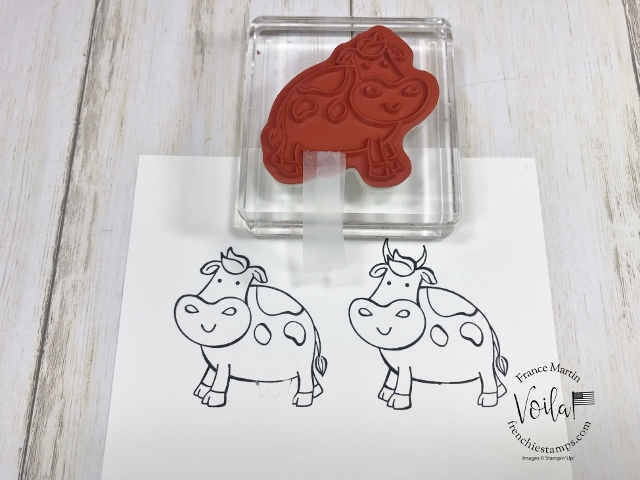 Over the Moon for wedding card. How to convert the cow into a bull.