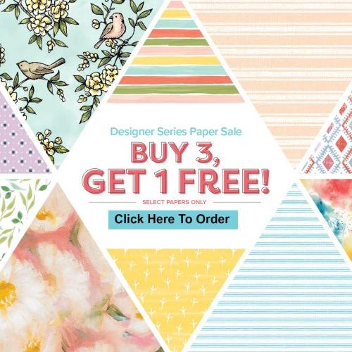 Stampin'Up! Designer paper on sale