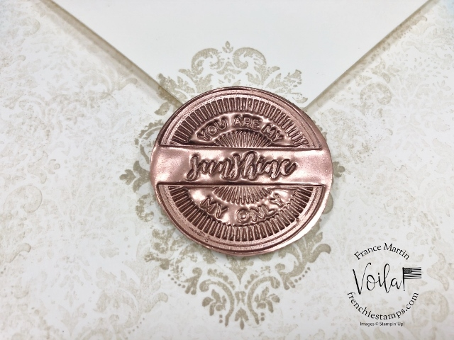 Faux Wax Seal For All In One Card