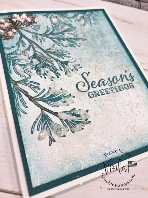 Simple but elegant Christmas card with the Peaceful Boughs