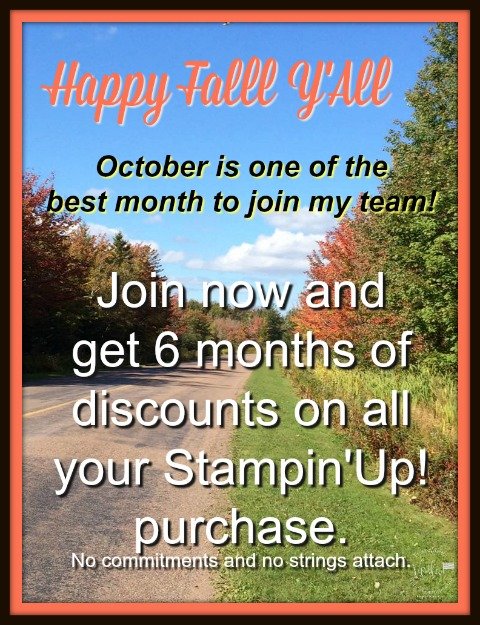 Get 6 mounts discount on your Stampin'Up! purchase.