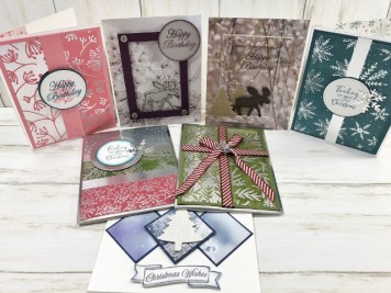 How to make 18 card with 1/4 pack of Feels Like Frost Specialty Designer paper. Class will take place on YouTube with Frenchie and Holly. All product are by Sta