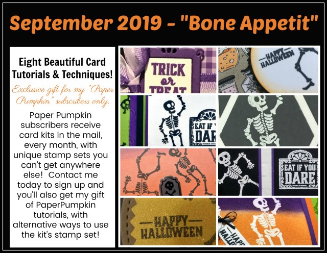 Extra inspiration to use the The Bon Appetit  Pumpkin Stamp Set in September 2019 Kit.