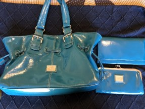 Blue Purse with walet and travel pouch 30.00