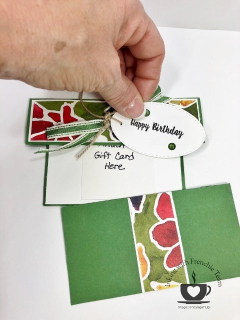 Frenchie's Team sharing Card to hold Gift Card.