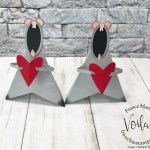 Tee Pee card turn into a little Valentine Mouse.