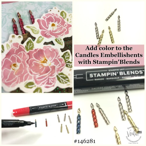 How to use the stamping Blends to add colors onto the Candles Embellishments. Quick and simple.