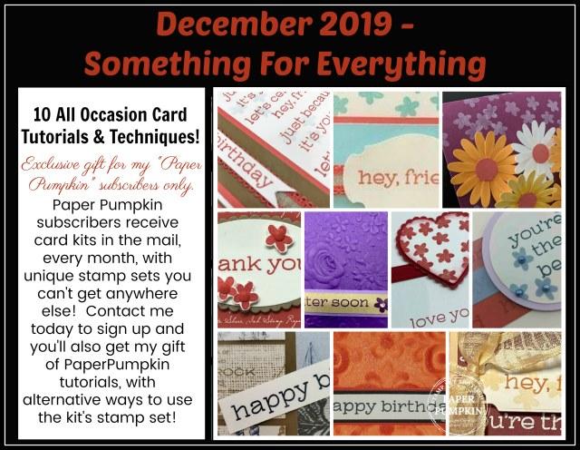 Paper Pumpkin Something for Everything December 2019