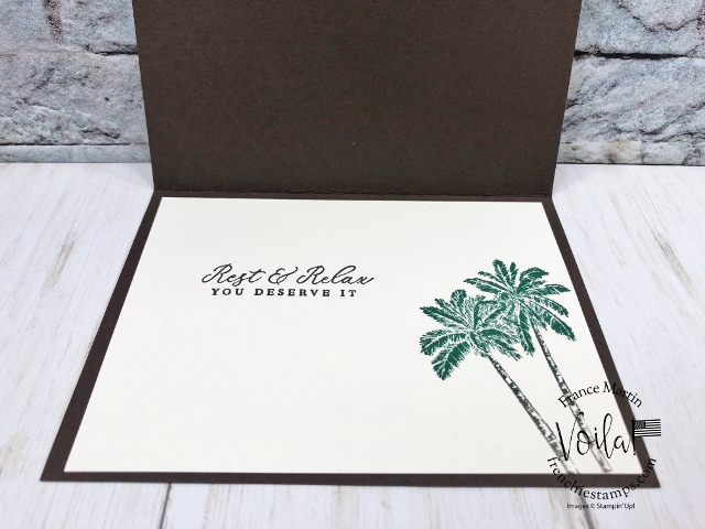 Stitched So Sweetly Die with Tropical Oasis  Designer paper for a masculine card.