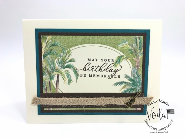 Tropical Oasis Memories and More Cards. Live class on YouTube with Holly and Frenchie.