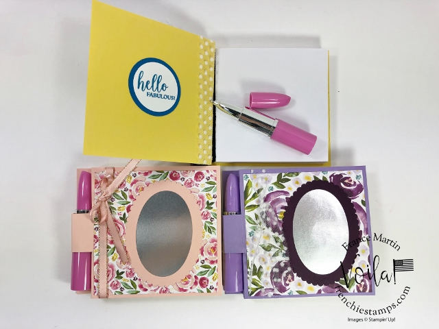 Lipstick Pen and Post-It Note Holder