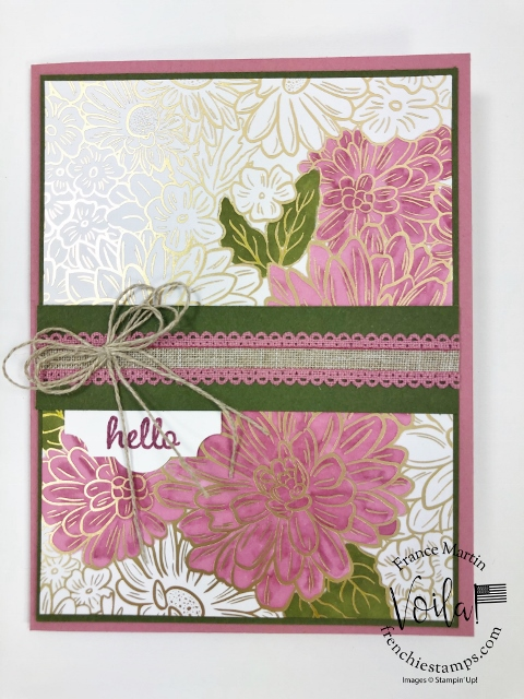 How to color the foil paper from the Ornate Garden designer paper with Stampin' Blends.