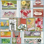 Showcase of variation of the Scalloped Note Cards with Frenchie