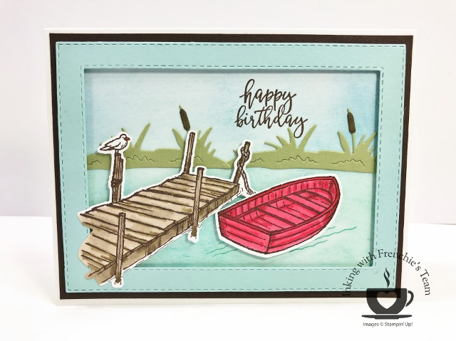 Frenchie's team in the spotlight. Showcasing masculine cards. Bundle By The Dock.