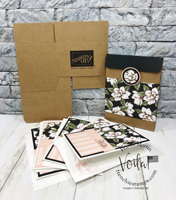 Mini Stampin'Up! shipping box to hold 6 note cards.