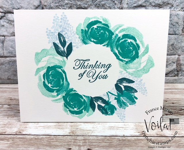 Beautiful Friendship Circle masking. Simple no layer card.