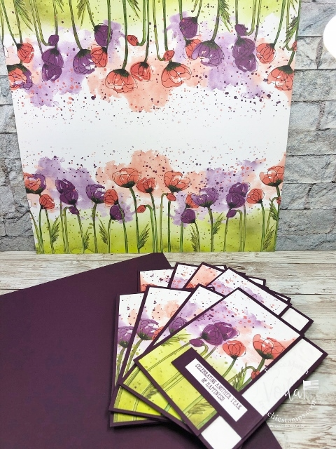 Peaceful Poppies Designer Paper One sheet Wonder.