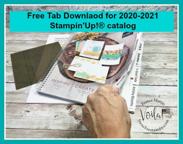 Tabs for the 2020-2021 Stampin'Up!® catalog