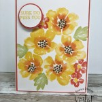 Simple stamping using Blossoms In Bloom stamp set.
