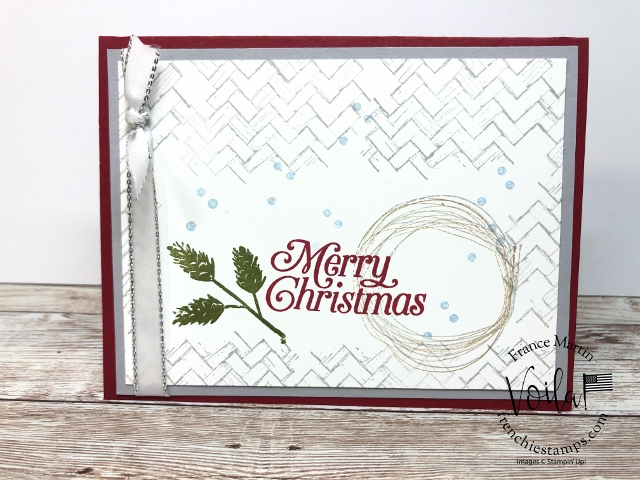 Christmas in July at Frenchiestamps. Stamp Set Comfort and Hope and Perfectly Plaid.