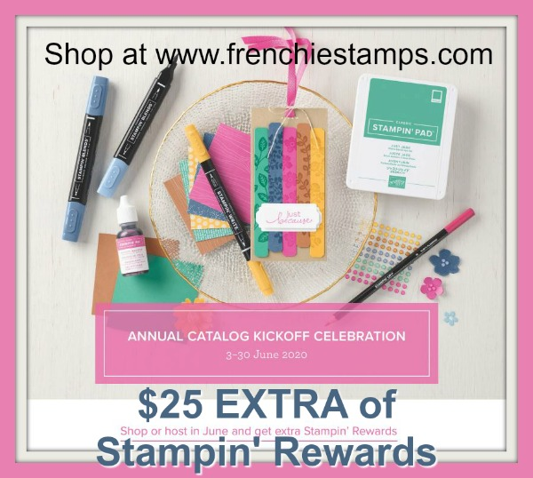 Extra Stampin'Up! rewards for the month of June 2020.