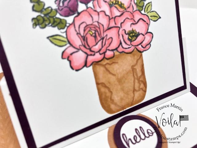 Jar of Flowers and Fun Fold Card class.