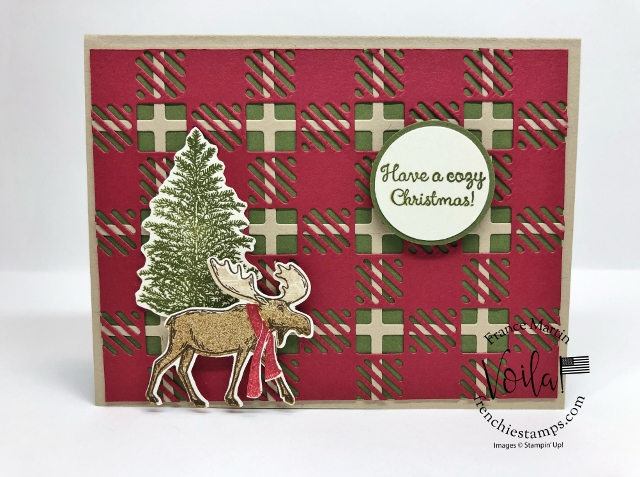Best Plaid with Merry Moose for a Rustic Christmas Card